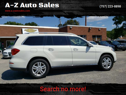 2013 Mercedes-Benz GL-Class for sale at A-Z Auto Sales in Newport News VA