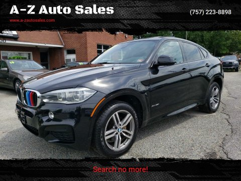 2015 BMW X6 for sale at A-Z Auto Sales in Newport News VA