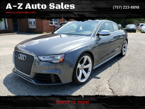 2014 Audi RS 5 for sale at A-Z Auto Sales in Newport News VA