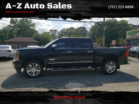 2015 Chevrolet Silverado 1500 for sale at A-Z Auto Sales in Newport News VA