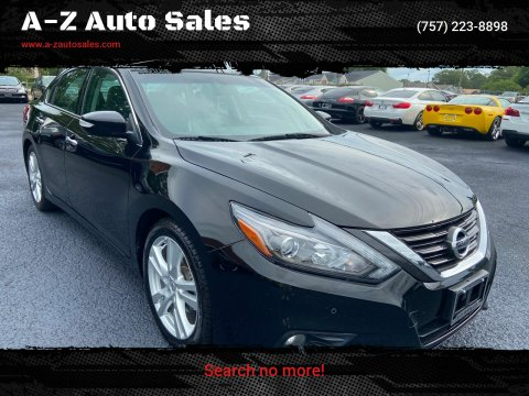 2017 Nissan Altima for sale at A-Z Auto Sales in Newport News VA