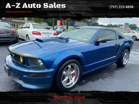 2008 Ford Mustang for sale at A-Z Auto Sales in Newport News VA