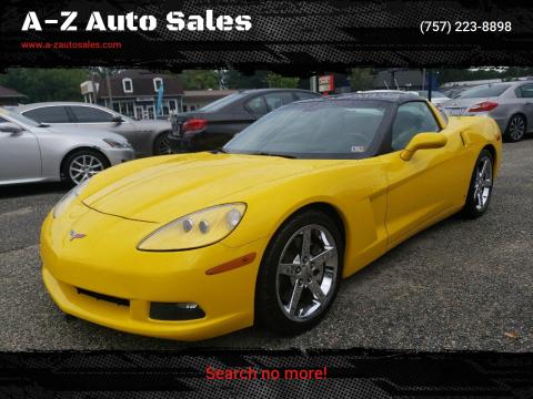 2008 Chevrolet Corvette for sale at A-Z Auto Sales in Newport News VA