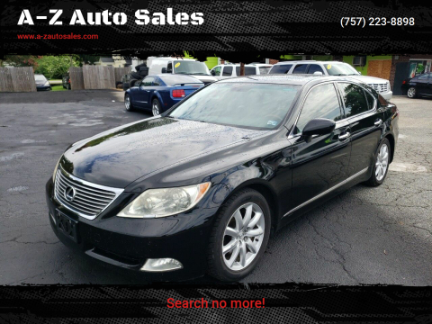 2008 Lexus LS 460 for sale at A-Z Auto Sales in Newport News VA