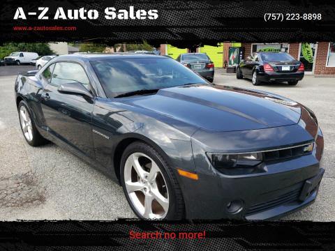 2014 Chevrolet Camaro for sale at A-Z Auto Sales in Newport News VA
