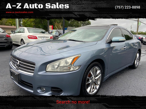 2011 Nissan Maxima for sale at A-Z Auto Sales in Newport News VA
