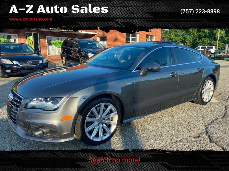 2012 Audi A7 for sale at A-Z Auto Sales in Newport News VA