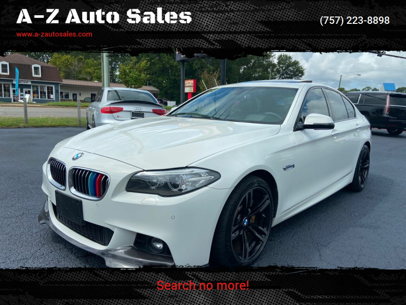 2015 BMW 5 Series for sale at A-Z Auto Sales in Newport News VA