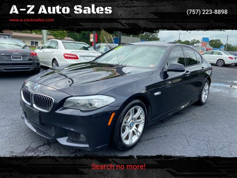2013 BMW 5 Series for sale at A-Z Auto Sales in Newport News VA