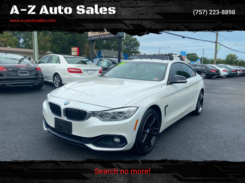 2015 BMW 4 Series for sale at A-Z Auto Sales in Newport News VA