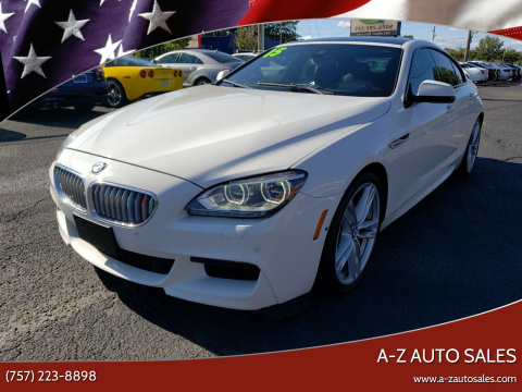 2015 BMW 6 Series for sale at A-Z Auto Sales in Newport News VA
