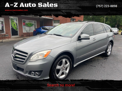 2011 Mercedes-Benz R-Class for sale at A-Z Auto Sales in Newport News VA