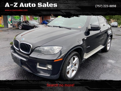 2013 BMW X6 for sale at A-Z Auto Sales in Newport News VA