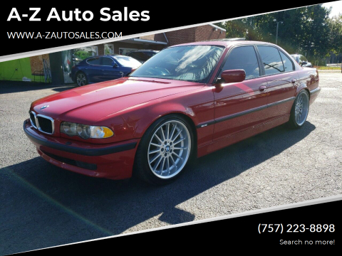 2001 BMW 7 Series for sale at A-Z Auto Sales in Newport News VA