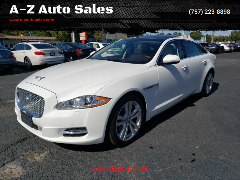 2015 Jaguar XJL for sale at A-Z Auto Sales in Newport News VA