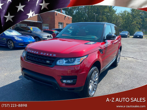 2014 Land Rover Range Rover Sport for sale at A-Z Auto Sales in Newport News VA