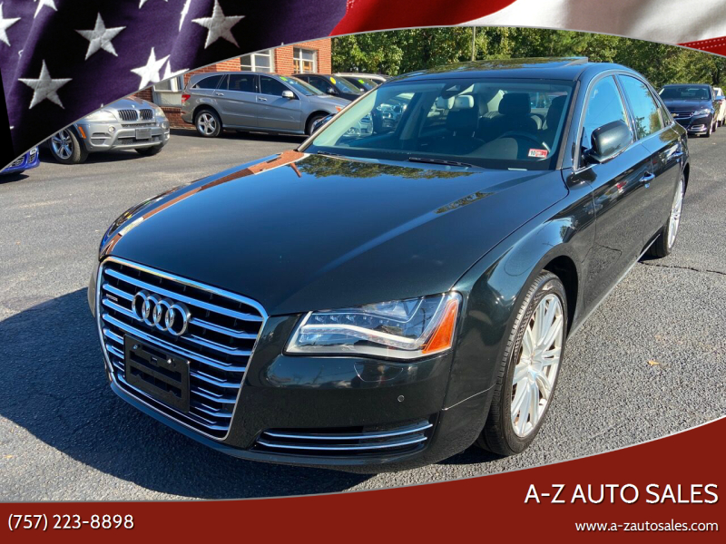 2013 Audi A8 L for sale at A-Z Auto Sales in Newport News VA