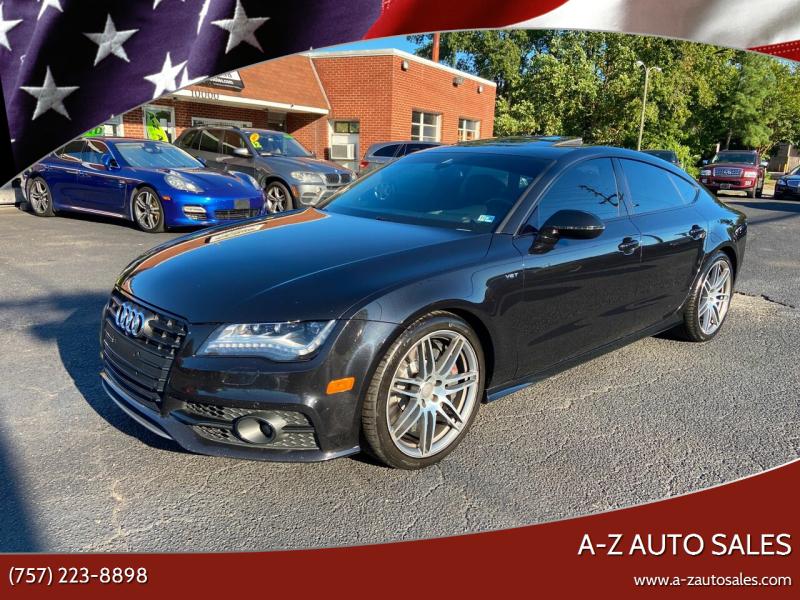2014 Audi S7 for sale at A-Z Auto Sales in Newport News VA