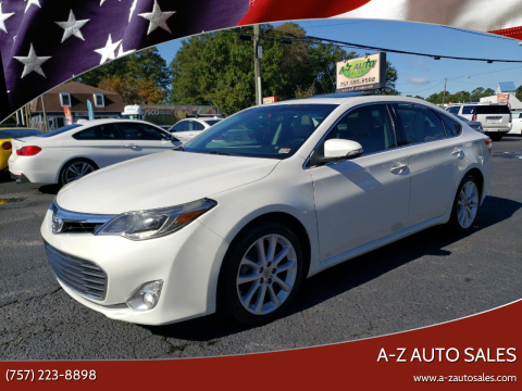 2013 Toyota Avalon for sale at A-Z Auto Sales in Newport News VA