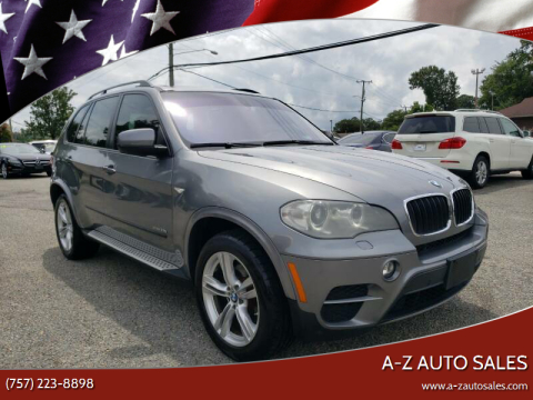 2012 BMW X5 for sale at A-Z Auto Sales in Newport News VA