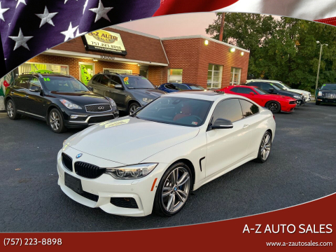 2014 BMW 4 Series for sale at A-Z Auto Sales in Newport News VA