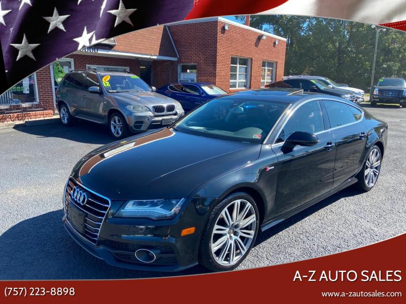 2013 Audi A7 for sale at A-Z Auto Sales in Newport News VA