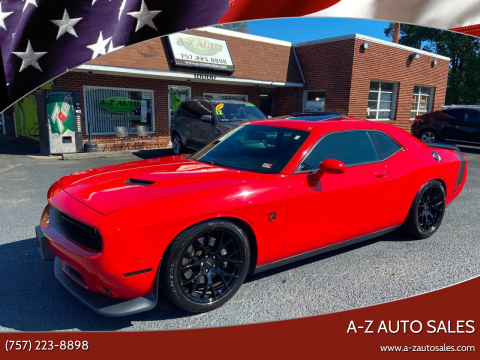 2015 Dodge Challenger for sale at A-Z Auto Sales in Newport News VA