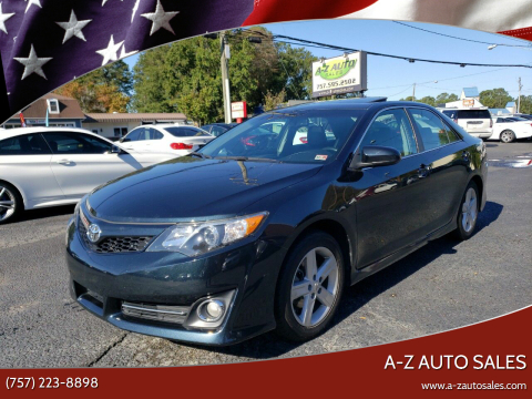 2012 Toyota Camry for sale at A-Z Auto Sales in Newport News VA