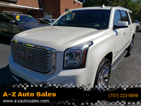2016 GMC Yukon XL for sale at A-Z Auto Sales in Newport News VA