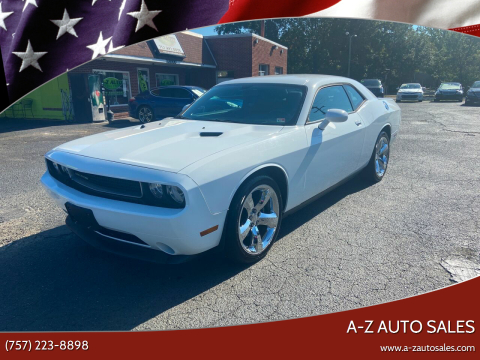 2013 Dodge Challenger for sale at A-Z Auto Sales in Newport News VA