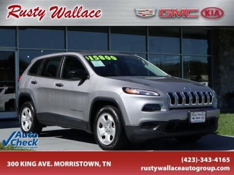 2017 Jeep Cherokee for sale at RUSTY WALLACE CADILLAC GMC KIA in Morristown TN