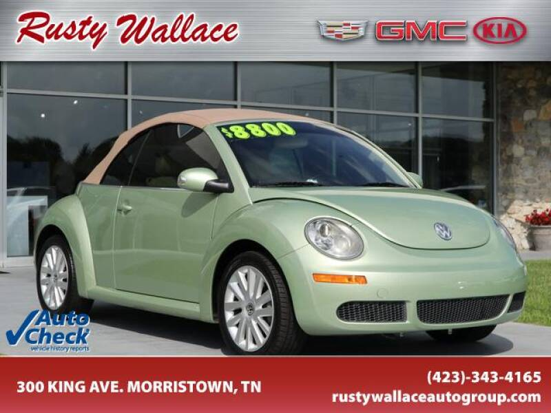 2008 Volkswagen New Beetle Convertible for sale at RUSTY WALLACE CADILLAC GMC KIA in Morristown TN