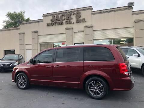 2017 Dodge Grand Caravan for sale at JACK'S MOTOR COMPANY in Van Buren AR