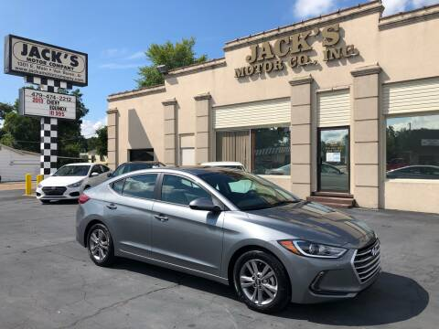 2018 Hyundai Elantra for sale at JACK'S MOTOR COMPANY in Van Buren AR