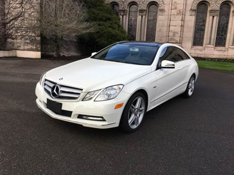 2012 Mercedes-Benz E-Class for sale at First Union Auto in Seattle WA