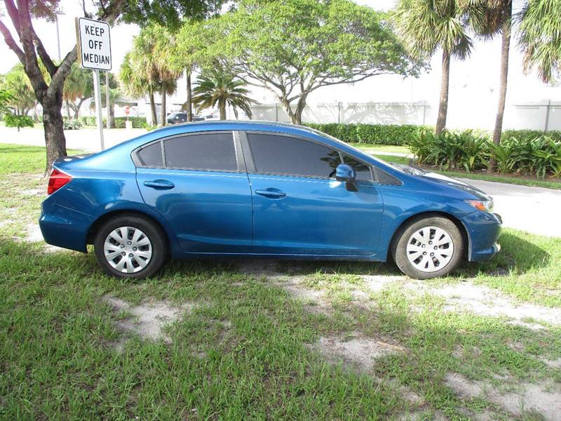 2012 Honda Civic LX 4dr Sedan 5A - Fort Lauderdale FL