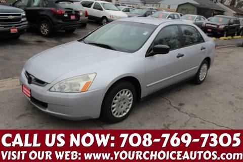 2003 Honda Accord for sale in Posen, IL