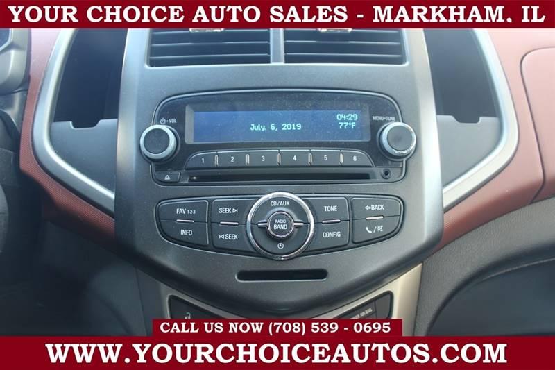 2013 Chevrolet Sonic LT Auto 4dr Sedan In Posen IL - Your Choice Autos