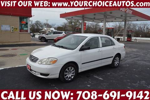 2003 Toyota Corolla for sale at Your Choice Autos - Crestwood in Crestwood IL