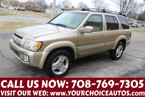 2002 Infiniti QX4 for sale at Your Choice Autos in Posen IL