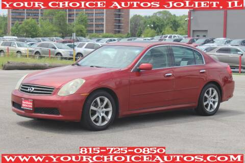 2006 Infiniti G35 for sale at Your Choice Autos - Joliet in Joliet IL