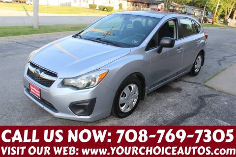 2012 Subaru Impreza for sale at Your Choice Autos in Posen IL