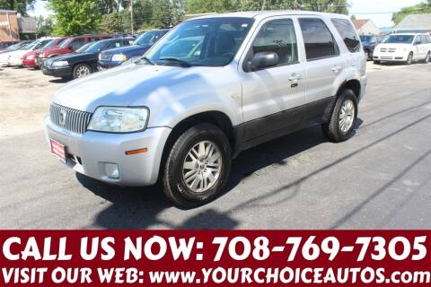 2007 Mercury Mariner for sale at Your Choice Autos in Posen IL