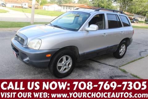 2003 Hyundai Santa Fe for sale at Your Choice Autos in Posen IL