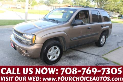 2003 Chevrolet TrailBlazer for sale at Your Choice Autos in Posen IL