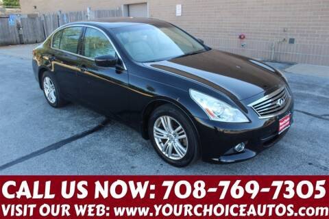 2011 Infiniti G25 Sedan for sale at Your Choice Autos in Posen IL