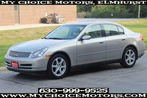 2004 Infiniti G35 for sale at Your Choice Autos - My Choice Motors in Elmhurst IL