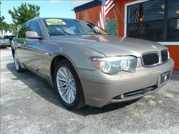 2004 BMW 7 Series for sale at Victory Auto Group LLC in Stuart FL