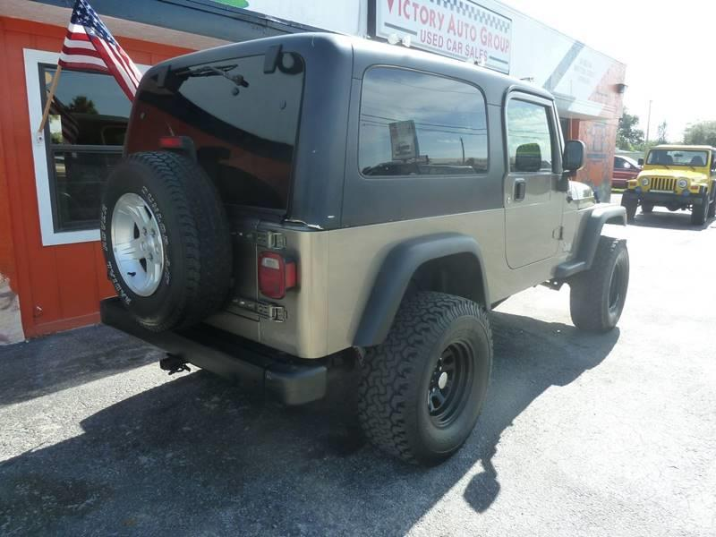 2004 Jeep Wrangler for sale at Victory Auto Group LLC in Stuart FL