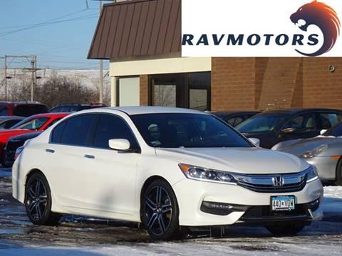 2016 Honda Accord Sport for sale at RAVMOTORS in Burnsville MN